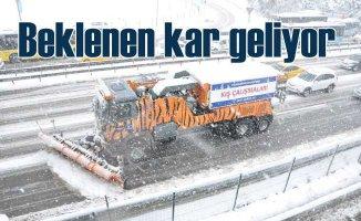 İstanbul kar yağışına hazır | Yarın kar bekleniyor