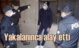 Polise yakalanınca bekçilerle alay eden gence 3 bin TL ceza