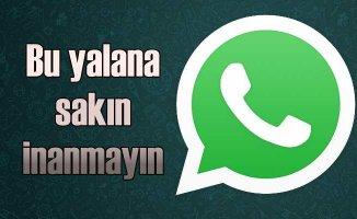 WhatsApp log kaydı alınıyor sahtekarlığına kanmayın