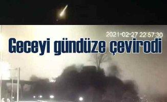 Geceyi aydınlatan esrarengiz ışık vatandaşları tedirgin etti
