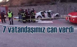 Düzce ve Şırnak'ta feci kaza 7 ölü var