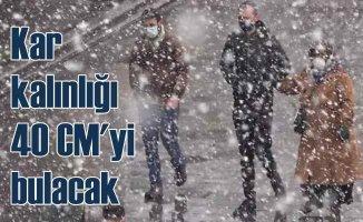 Meteoroloji'den 20 il için yoğun kar yağışı uyarısı