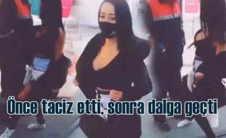 Tacizci kız | İETT çalışanına sokakta taciz