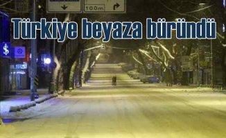Türkiye beyaza büründü | Kar yağışı üreticiyi sevindirdi