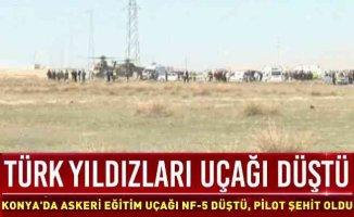 Türk Yıldızları Yasta | Konya'da uçak düştü, pilot şehit