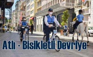 İBB'nin bisikletli zabıtalarıdevriye gezmeye başladı