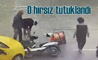 Kaza yapan kuryenin telefonunu çaldı, tutuklandı