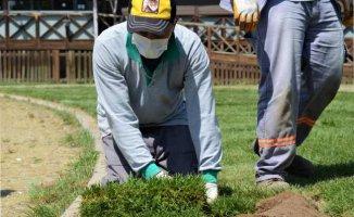 Lüleburgaz Kongre Meydanı'na 'yeşil' dokunuş