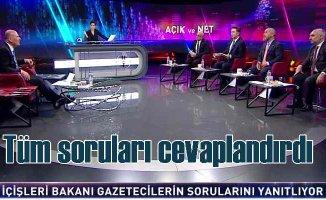 Sedat Peker iddiaları | Bakan Soylu canlı yayında cevaplandırdı