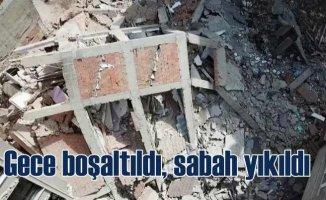 Zeytinburnu'dan 5 katlı bina yıkıldı