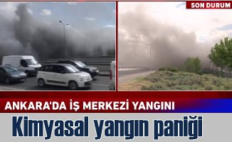 Ankara'da yangın | ATB iş merkezinde çıkan yangın trafiği felç etti