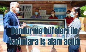 Lüleburgaz'da dondurma büfeleri kadınlara emanet