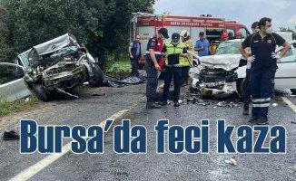 Bursa'da feci kaza | 4 can kaybı var
