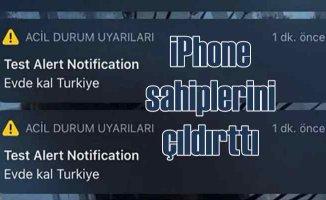 Evde Kal Türkiye | iPhone telefon sahiplerine esrarengiz mesaj