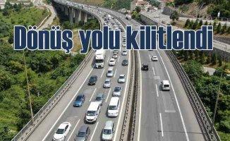İstanbul yolu kilit | Kurban Bayramı dönüş çilesi