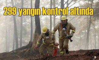 54 ilde 299 orman yangını kontrol altına alındı