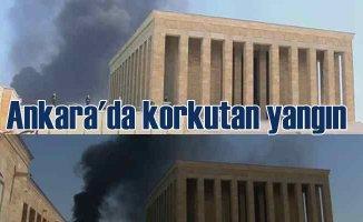 Ankara'da korkutan yangın | Dumanlar Anıtkabir üstüne ulaştı