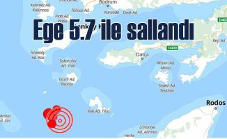 Ege'de deprem | Deprem fırtınası 4.8 ile ba,şladı, 5.7'yi gördü