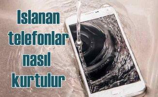 Islanan telefonları kurtarmak | Sıvıyla temas eden telefon nasıl kurtarılır?