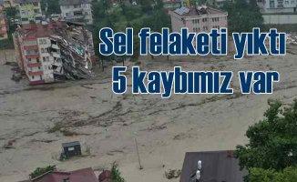 Kastamonu, Bartın ve Sinop'ta sel felaketi 5 kayıp var