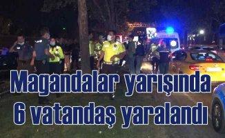 Sarıyer'de zincirleme kaza | Magandalar yarıştı, 6 yaralı var