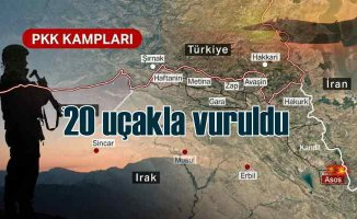 Terör örgütüne ait 28 hedef havadan vuruldu