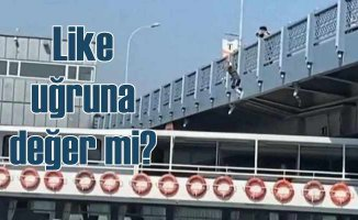 Galata Köprüsü'nden gemiye atlamıştı, gözaltına alındı