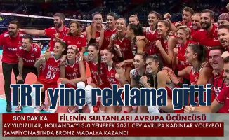 Türk Milli Takımı 3'ncü oldu TRT reklama girdi