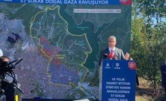 Zübeyde Hanım'da doğal gaz hasreti 16 yıl sonra bitti