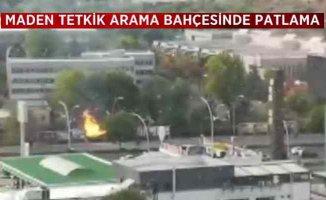 Ankara'da patlama | MTA bahçesinde şiddetli patlama