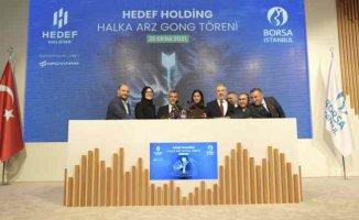 Borsa İstanbul'da gong Hedef Holding için çaldı