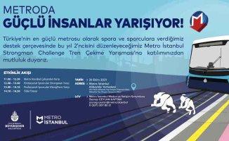İstanbul Metrosu'nda sıra dışı yarışma | 47 tonluk treni çekecekler
