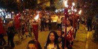 30 Ağustos zafer bayramında Fener alayı ve teröre lanet yürüyüşü