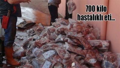 Aksaray'da tüberkülozlu etleri satmışlar