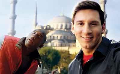 Messi ve Bryant aynı kareye girdi