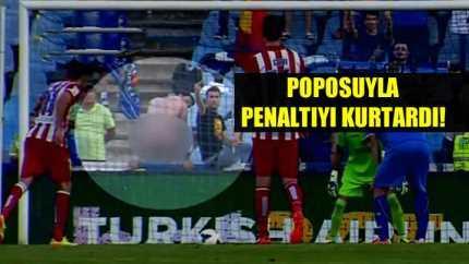 Taraftar poposuyla penaltı kurtardı Video
