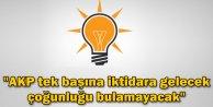 AKP tek başına iktidara gelecek çoğunluğu bulamayacak