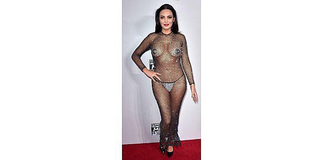 Amerikan Müzik Ödülleri Töreninde Kırmızı Halıda Renkli Kareler
