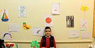 Ana sınıfı öğrencisi resim sergisi açtı