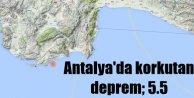 Antalya Demrede deprem, Antalya  5.5 depremle sarsıldı..