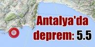 Antalya son dakika; Antalyada deprem korkuttu