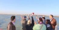 Avrupalı öğrenciler hayallerini Beyşehir Gölü'ne bıraktı