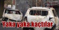 Bağlar araba mezarlığına döndü; Teröristler yaktı kaçtı