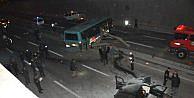 Eskişehir'de kaz, Bariyer, Otobüsün Orta Kapısından Girdi: 4 Yaralı