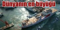 Bayraktar denize indirildi: Dünyanın en büyük Tank çıkarma gemisi
