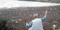 Bayramiç Barajı'nda odun avı
