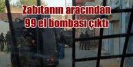 Belediye zabıtasının aracından 99 el bombası çıktı