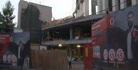 Beşiktaş Stad İnşaatında İskele Çöktü