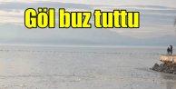 Beyşehir gölü buz tuttu; -20 derecede göl bile dondu