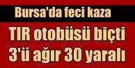 Bursa Orhangazi'de otobüs kazası: 33 yaralı var